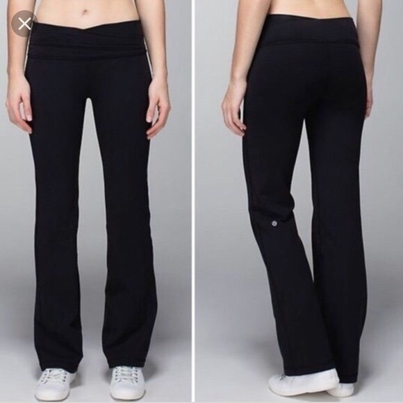 da82e15569 lululemon athletica Pants | Lululemon Black Flare | Poshmark